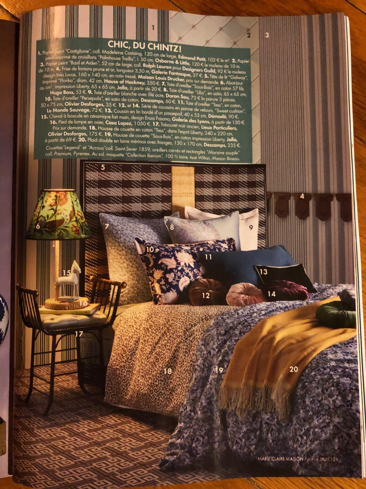 MARIE CLAIRE MAISON page tdl Galway tartan
